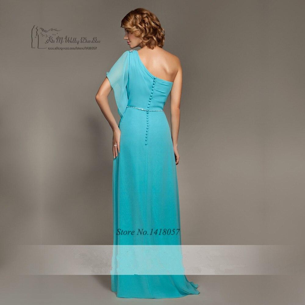 Großzügig Eine Schulter Blau Brautjungfer Kleid Zeitgenössisch ...
