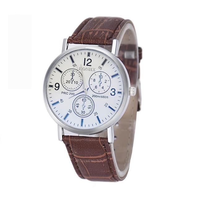 4bf6c0014284 Reloj de Los Hombres Calientes Top nuevos mens de lujo de cocodrilo Faux  cuero analógico negocio