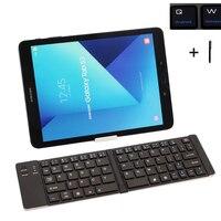Universele Toetsenbord voor Alle Tablet Mobiele Telefoons Draadloze Bluetooth Keyboard Case Voor Apple/Microsoft/Android Fold Cover + Stylus