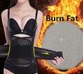 Condensador de ajuste de cintura Para Las Mujeres Cinturón Corsé Postparto Que Caliente Invierno Entrenadores de Quema de Grasa Para Adelgazar Barriga Cintura Fajas Moldeadores Del Cuerpo Negro