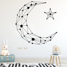 New arrival Stars and Moon Wall Sticker PVC Art Stickers Modern Fashion sticker Home Decoration mural