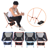 Travel Ultralight Folding Chair Superhard High Load Outdoor Camping Chair Portable Beach Hiking Picnic Fishing Tools Chair D20