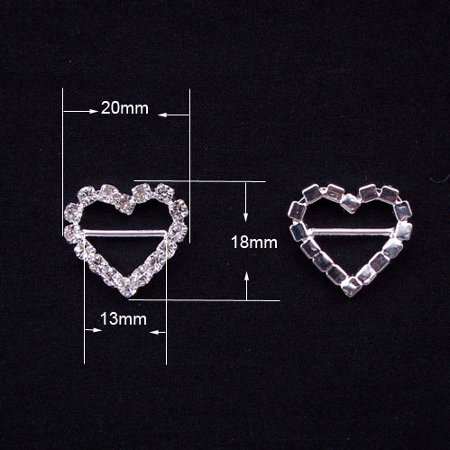 Factory outlet 10pcs 20mm18mm heart shape rhinestone buckles factory outlet 10pcs 20mm18mm heart shape rhinestone buckles diamond wedding decoration wedding banguet dinner decoration in jewelry findings components junglespirit Images