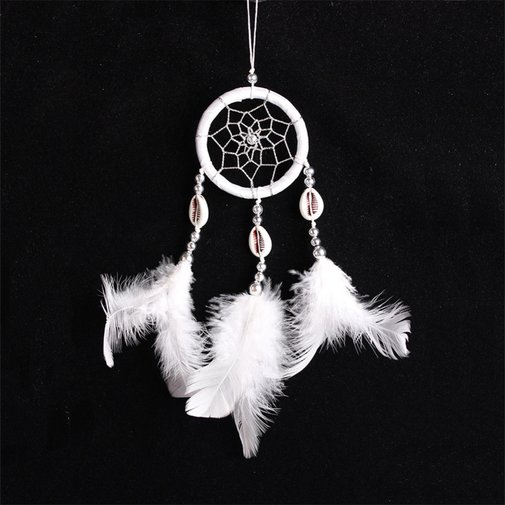 Handmade Indian Style Wall Hangings Feather Net Dream Catcher Car Ornaments