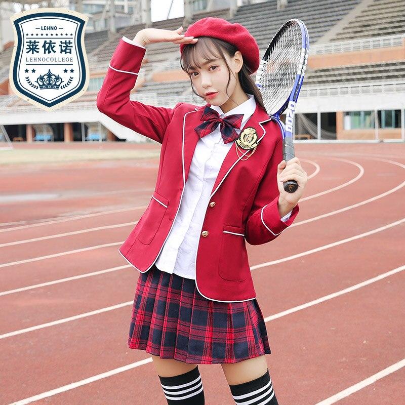 Japanese Fashion Autumn Winter Autumn School Uniform Set For School Girl