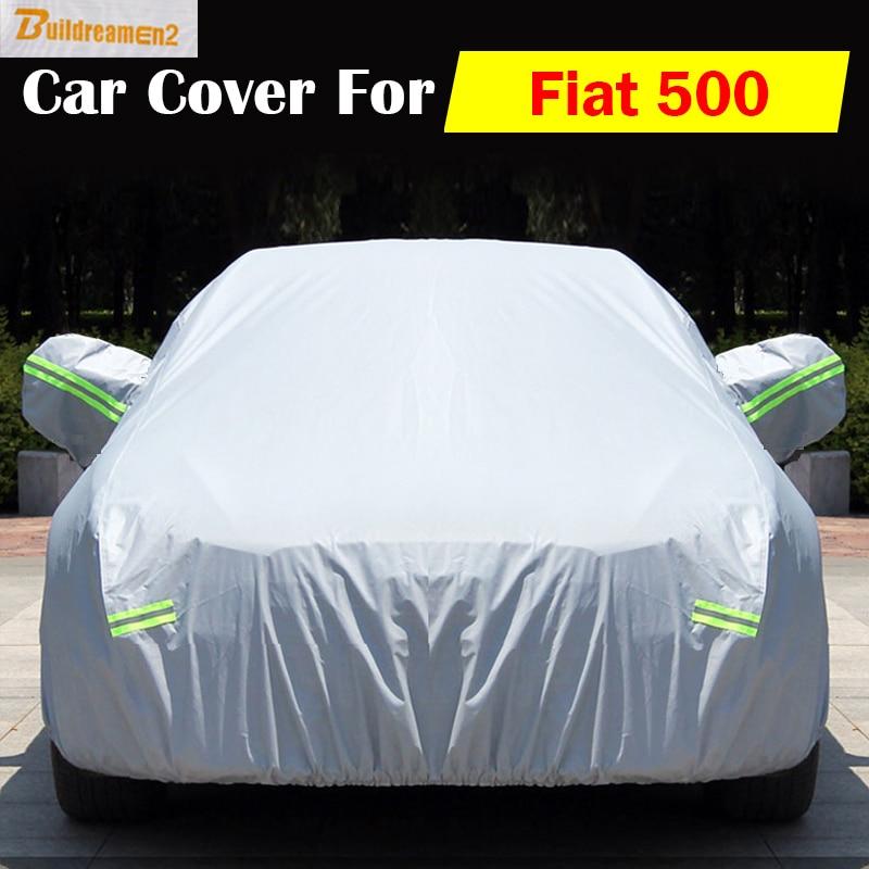 Buildreamen2 Car Cover Auto Anti UV Scratch Rain Snow Sun Resistant Dust Proof Waterproof Cover For