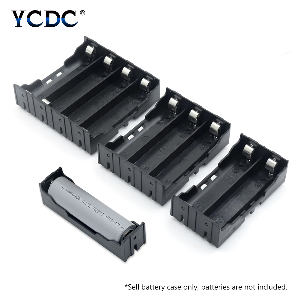 ABS 18650 Power Bank Cases 1X 2X 3X 4X 18650 Battery Holder Storage Box Case 1 2 3 4 Slot Batteries Container With Hard Pin