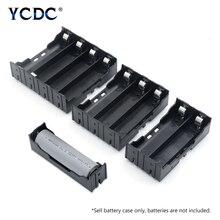 ABS 18650 Power Bank Cases 1X 2X 3X 4X 18650 soporte de batería caja de almacenamiento 1 2 3 4 ranura contenedor de baterías con Pin duro