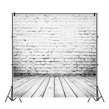 Yeele Retro White Brick Portrait Photography Art Backdrops Grunge Solid Wall Customized Photography Backgrounds For Photo Studio