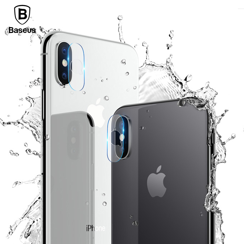 Baseus 0.15MM Back Camera Len Film Screen Protector For iPhone X 10 Transparent Back Cover Phone Lens Tempered Film For iPhone X