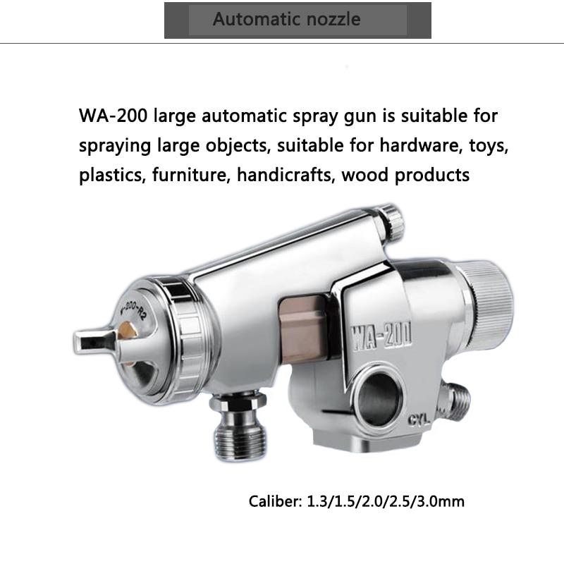 Automatic gun reciprocating machine nozzle line spray gun WA 200 leather glue automatic spray gun 1.3/1.5/2.0/2.5/3.0mm