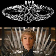Game of Thrones Cersei Lannister Diadem Headbands Women Hair Accessories Hairbands Cosplay Jewellery Pageant Crown Hairband майка print bar game of thrones lannister