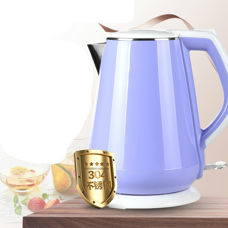Electric kettle boiling pot cooking food grade 304 stainless steel Safety Auto-Off Function electric kettle boiling pot 304 stainless steel home insulation 1 5l safety auto off function