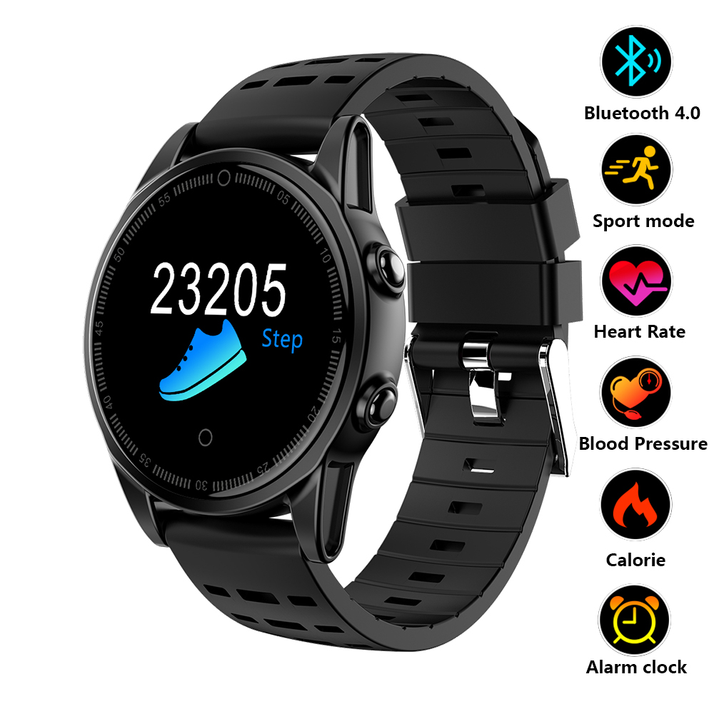 Smart Watch Fitness Tracker OLED Screen Smartwatch Heart Rate Blood Pressure Watch Waterproof Bluetooth Men Sport