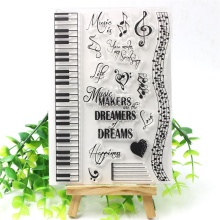 Music Transparent Clear Silicone Stamps for DIY Scrapbooking