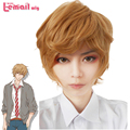 35cm Light Brown Wolf Girls with Black Prince Kyoya Sata Short Cosplay Wig