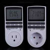 Wereldwijd EU Plug 24 Uur Programmeerbare Mechanische Elektrische Plug Programma Timer 7 Dayeek Diital Lcd-scherm