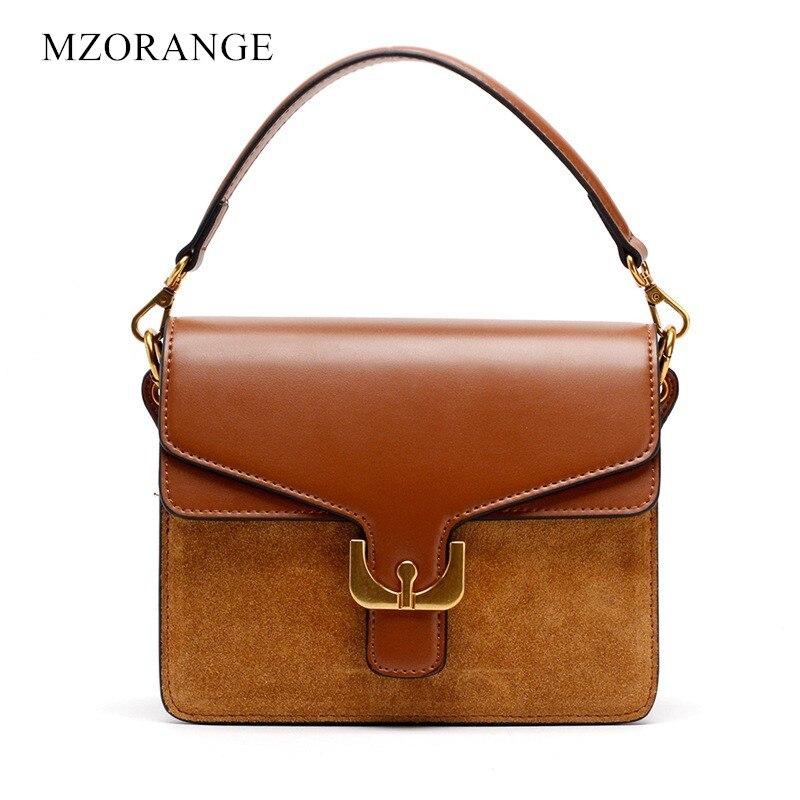 b5db2383ae9c MZORANGE 2018 NEW Women Genuine Leather Suede handbag Fashion Vintage Flap  Shoulder Bags organ design Casual Tote Crossbody Bags - aliexpress.com -  imall. ...