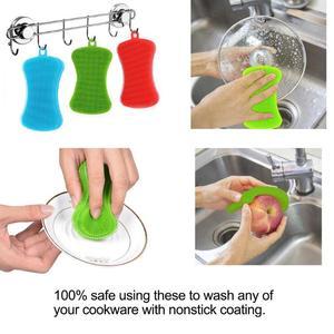Image 2 - סיליקון צלחת כביסה מברשת סיר מחבת נקי Scrubber מטבח ניקוי כלי צלחת/סיר/צלחת כביסה אנטיבקטריאלי טחב משלוח מברשת
