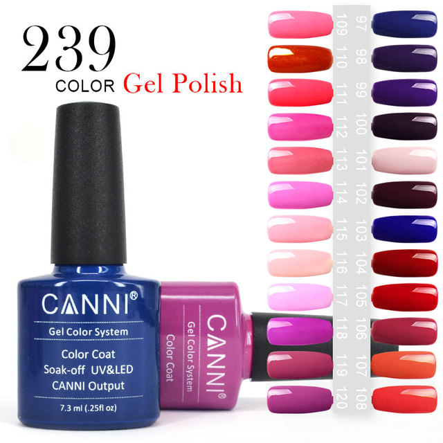 #30917 CANNI Color Gel Long Lasting Soak off UV /LED Nail Lacquer 7.3ML Gel Nail Polish