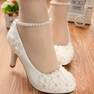 MIDDLE/LOW/HIGH HEELS white pu