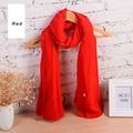 180*95cm Cotton 2016 Luxury Wrinkle Solid Scarf Plain hijabs Scarfs women Solid echarpe elegant oversize shawls scarves cosy