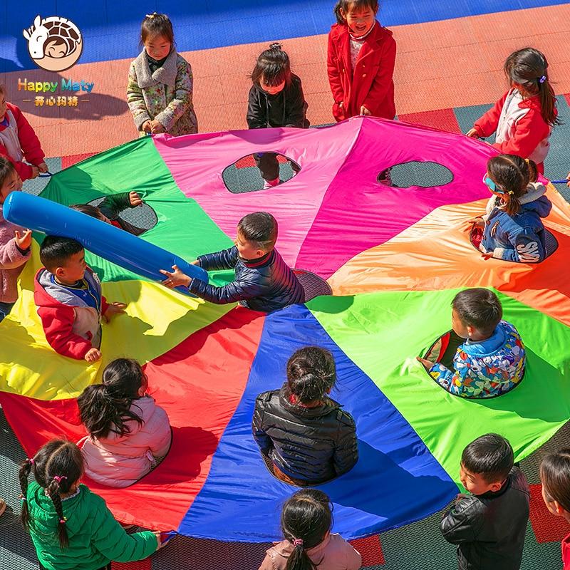 Kindergarten Whac-A-Mole Rainbow Umbrella Prachute Toy Parent-child Activities Game Props Children Kids Outdoor Fun Sports Toy