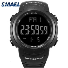 SMAEL Men Climbing Sports Digital Wristwatches Big Dial Military Watches Alarm G Style Shock Resistant Waterproof Watch LED new smael watch men g style wateproof s shock sport mens watches top brand luxury led digital watch military army wristwatches