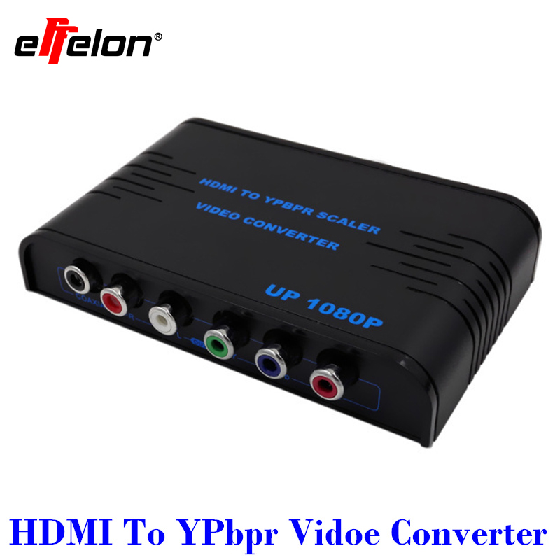 Effelon High Quality HDMI to Component YPbPr + R/L Audio Converter V1.3 1080P HDMI Video Audio Converter  ypbpr to hdmi converter 5rca component audio video scaler adapter