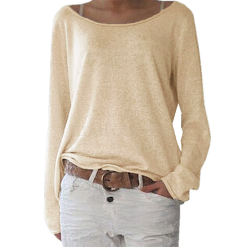 HTB1WtjEPpXXXXaeXFXXq6xXFXXXG - New Spring Casual O Neck Long Sleeve Cotton Women T-Shirts