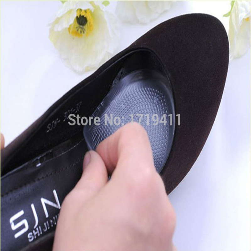 50 Pairs Hot selling Gel Silicone Shoe pad Insoles womens high heel Cushion Protect Comfy Feet Palm Care Pads