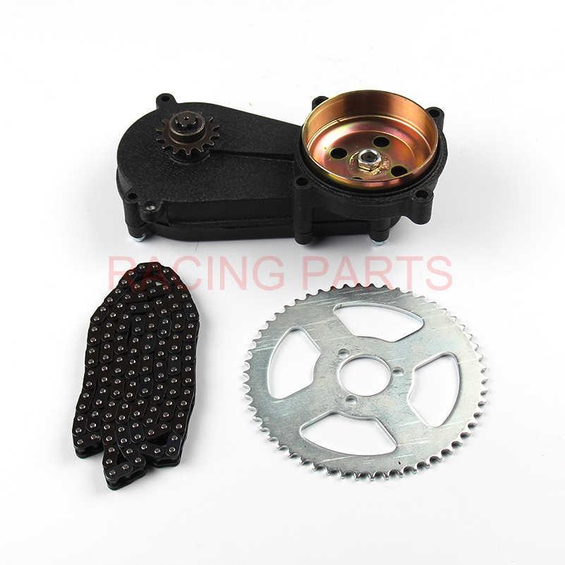 47cc 49cc 포켓 바이크 리야 프론트 기어 박스 변속기 기어 박스 미니 모토 atv t8f 체인 및 체인 플레이트 2 스트로크 엔진 부품
