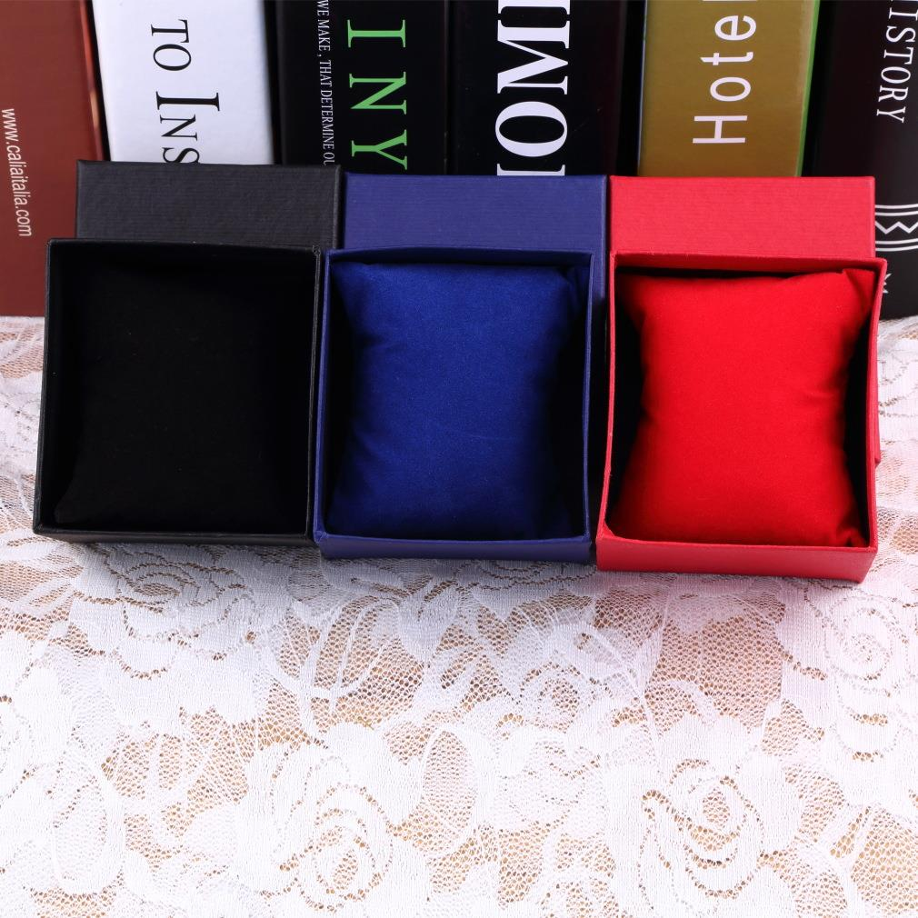 2015 1pc Bracelet Jewelry Watch With Foam Pad Inside Present Gift Box Case For Bangle caixa de presente