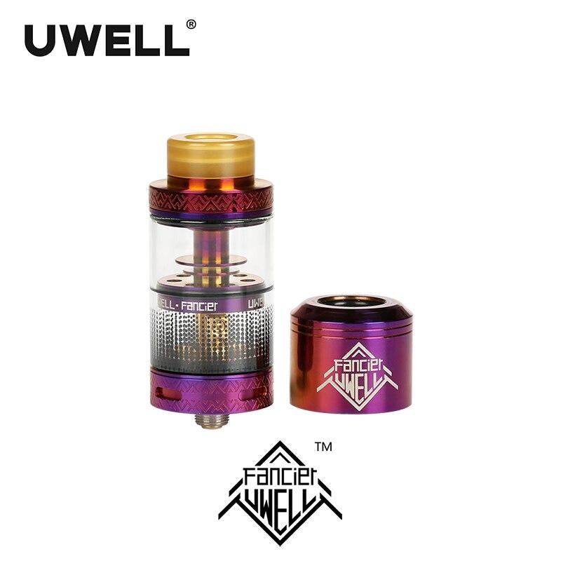En stock!!! UWELL FANCIER atomiseur 4 ml réservoir RTA & RDA 6 couleurs Cigarette électronique Plug-pull bobines Vape réservoir - 4