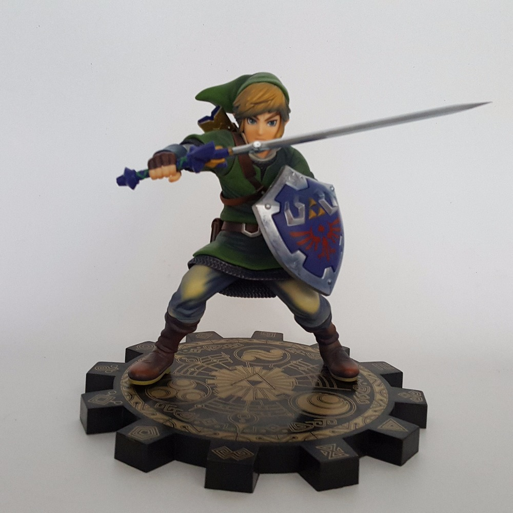 The Legend of Zelda 1/7 Scale PVC Action Figure Anime Game Toy Zelda Link Skyward Sword Collectible Model Toy 20cm anime life no game no life shiro game of life painted second generation game of life 1 7 scale pvc action figure model