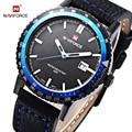 Naviforce marca reloj de los hombres de moda casual deportivo relojes de los hombres de cuero resistente al agua de cuarzo reloj hombre militar reloj relogio masculino