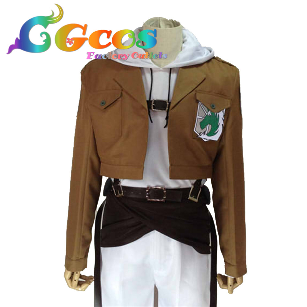 CGCOS Free Shipping Cosplay Costume Attack on Titan Shingeki no Kyojin Investigation Corps Annie Leonhart wings phytochemical investigation