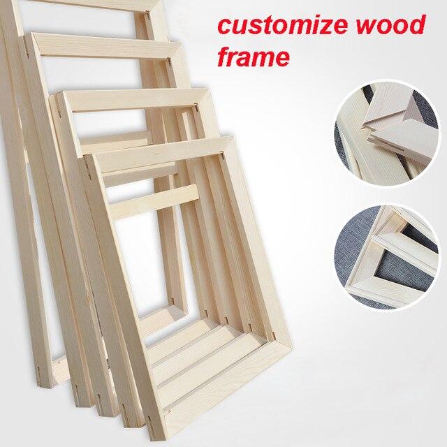 Madera para la pintura al óleo naturaleza madera marco personalizado ...