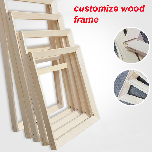 Wood Frame For Canvas Oil Painting Nature Wood Custom