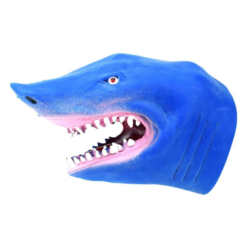 Shark Dinosaur Tyrannosaurus Rex Crocodile Hand Puppet Gloves Soft Vinyl PVC Animal Head Figure Vividly Kids Toy Model GiftsShark Dinosaur Tyrannosaurus Rex Crocodile Hand Puppet Gloves Soft Vinyl PVC Animal Head Figure Vividly Kids Toy Model Gifts
