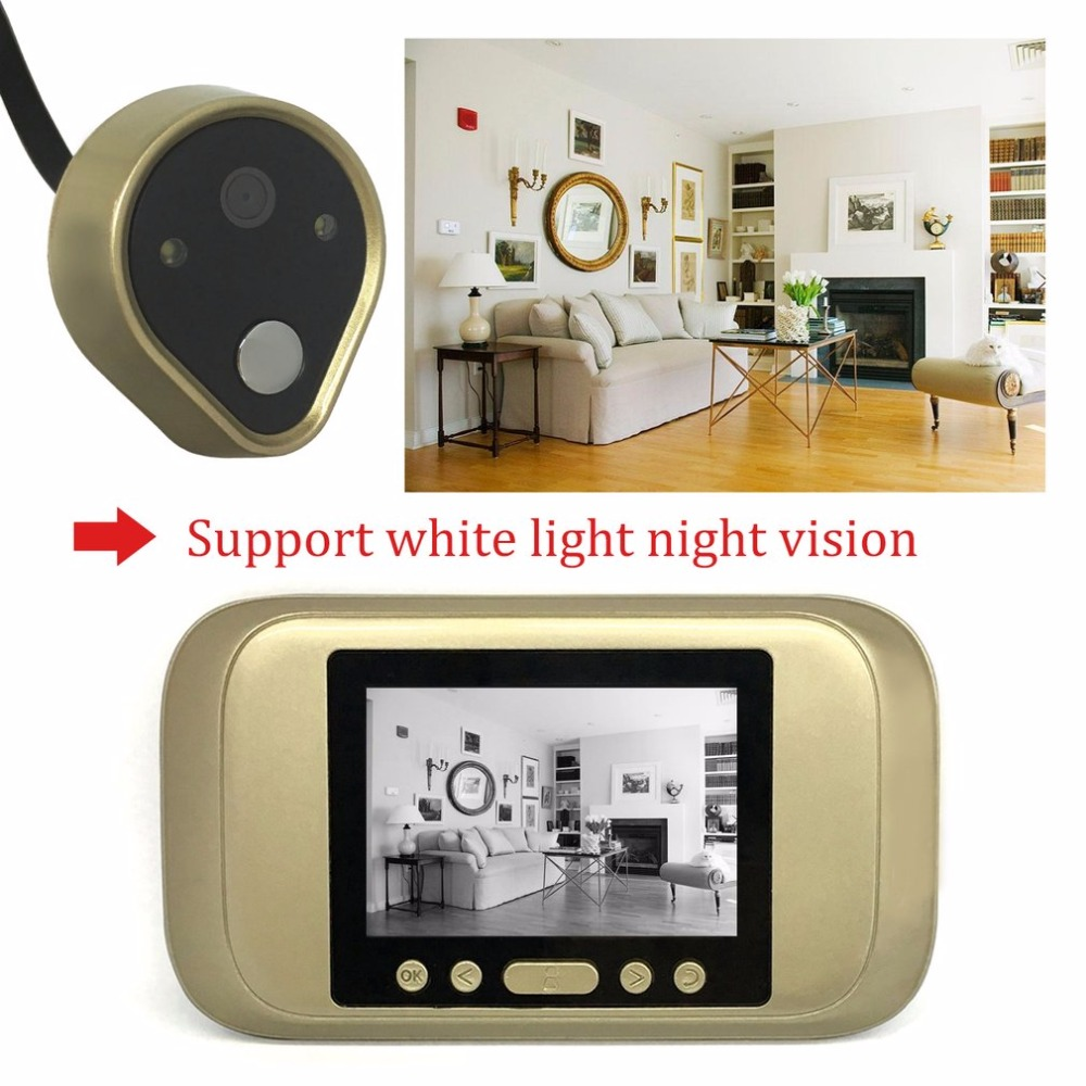 все цены на TSD-A32D Peephole Visual Doorbell 3.2 Inch Display Digital Door Viewer HD Camera Take Photo/Video Door bell Home/House Safety