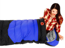 2017 ultralight goose down envelope sleeping bag sofa inflate bag hiking camping Hiking Camping Equipment