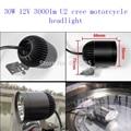 2 PCS 30W 4*U2 12v Cree chip motorcycle headlight sportster lights moto CE cafe racer moto u2 led spotlights for suzuki ktm