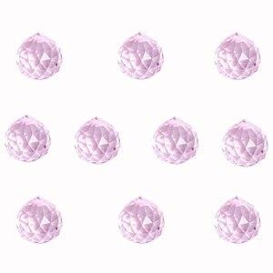 5/10 шт. розовые Висячие капли фэн-шуй 30 мм, хрустальный шар, призма для люстр, ламп, радужных Ловец снов, DIY декорации
