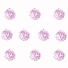 Crystal Ball Feng Shui Sphere-Prism Decors Hanging-Drops Pink 30MM for Chandelier-Lamps