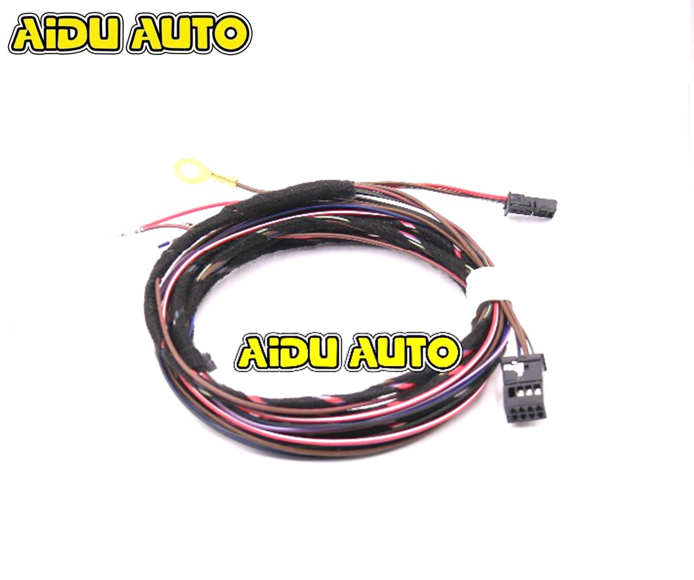 FOR VW Golf 7 Mk7 Anti-glare Auto Dimming Rear View Mirror Cable Auto Headlight Sensor Rain Light Sensor Cable Harness дополнительная фара gofl glare of light gl 0470 3311