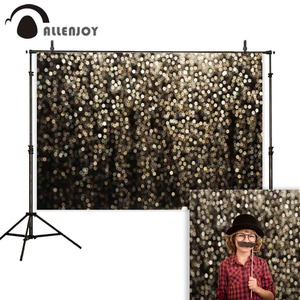 Image 3 - Allenjoy party Glttter photography backdrop Birthday bokeh gold black shiny wedding photo background studio photocall shoot prop