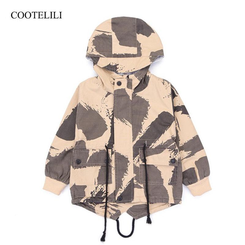 COOTELILI Hooded Kids Boys Jacket Windproof Outerwear & Coats Camouflage Baby Boys Coat Fashion Spring Children Clothing COOTELILI Hooded Kids Boys Jacket Windproof Outerwear & Coats Camouflage Baby Boys Coat Fashion Spring Children Clothing