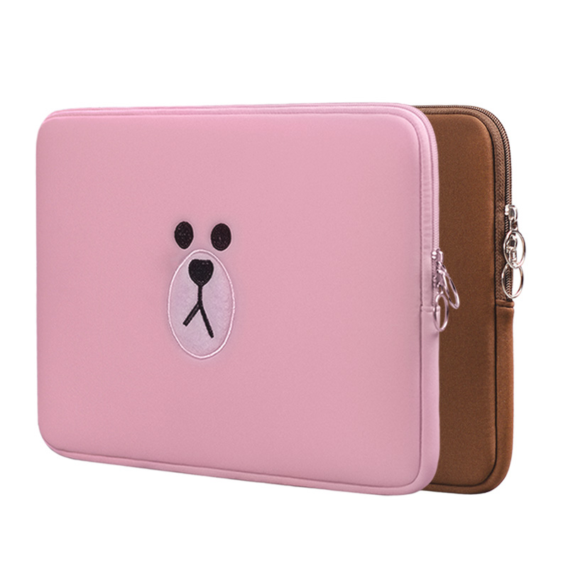 Cute Brown Bear Cartoon Bag11 13 15.6 Inch For Macbook Air Pro 11 13 15 Laptop Bag Tablet Case Computer Sleeve Computer PocketCute Brown Bear Cartoon Bag11 13 15.6 Inch For Macbook Air Pro 11 13 15 Laptop Bag Tablet Case Computer Sleeve Computer Pocket