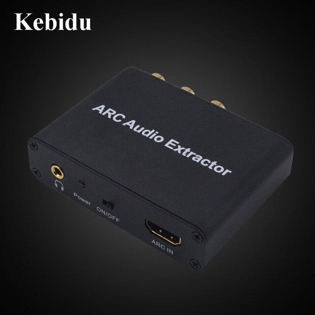 Kebidu HDMI ARC Âm Thanh Máy Hút Có Âm Thanh Stereo 3.5Mm Sợi Đồng Trục Chuyển Đổi Bộ Khuếch Đại Loa Soundbar HDTV Bán Buôn